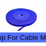 hook and loop for data cable